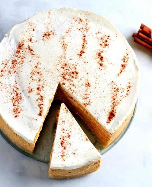 A pumpkin cheesecake