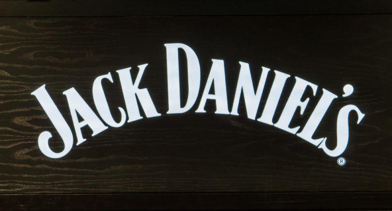 Jack Daniel's Logo on a black background