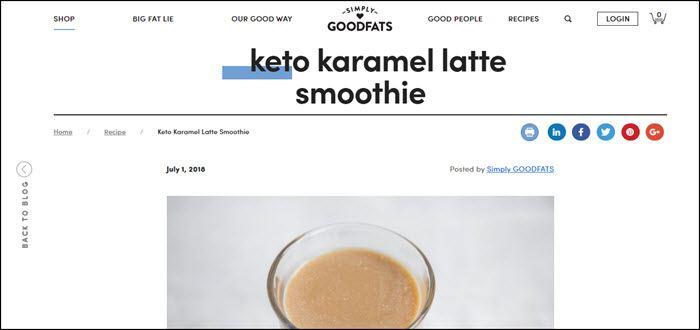 Website screenshot from GoodFats