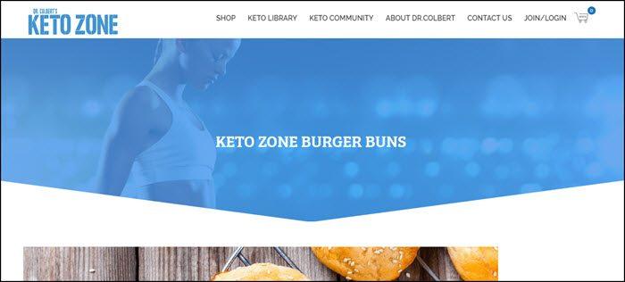 Website screenshot from Keto Zone