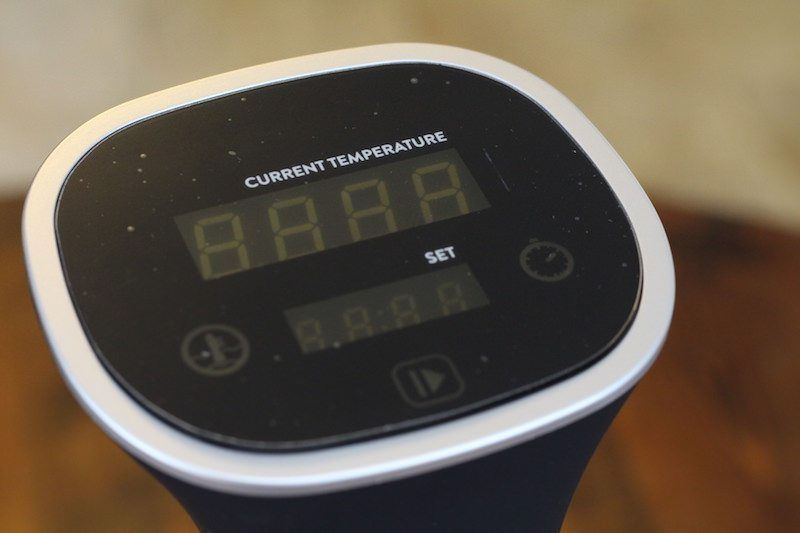 Face Display Of Kitchen Masters Sous Vide Immersion Circulator