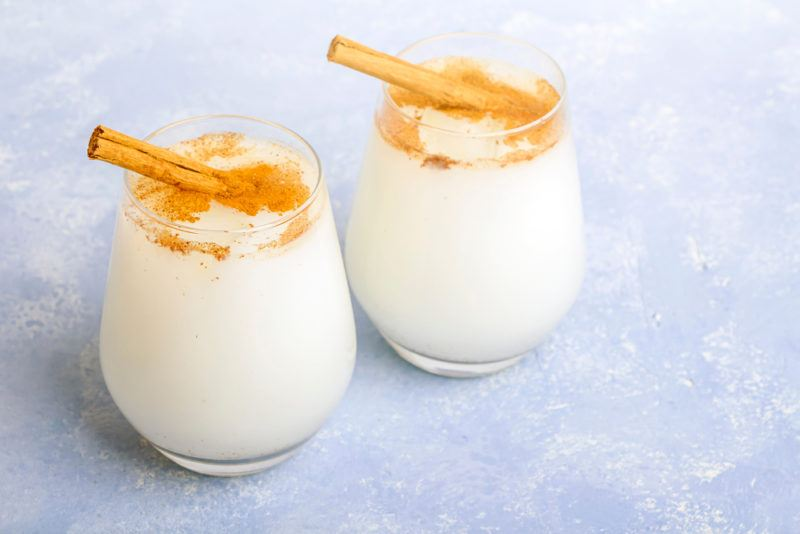 Two glasses of a Leche Mexicana