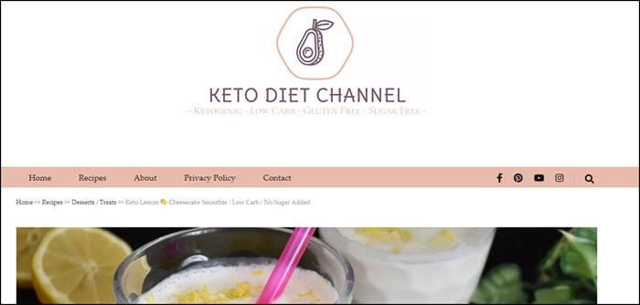 Website from Keto Diet Channel