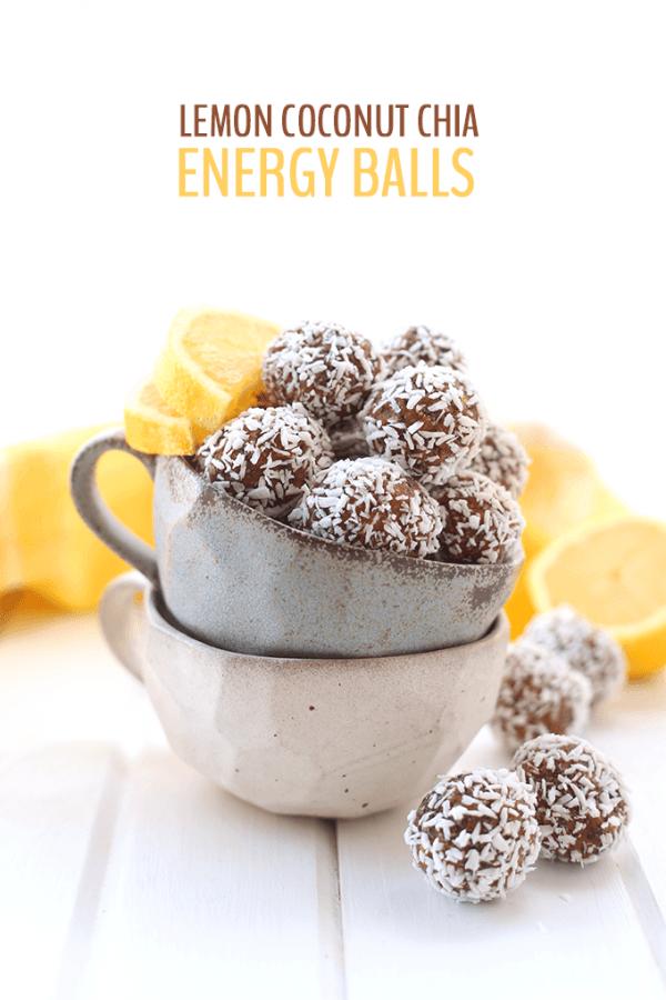 Lemon Coconut Chia Energy Balls