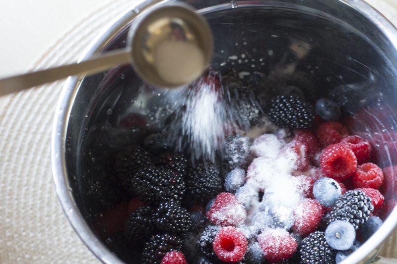 Lemon Pound Cake Berries Honey Mascarpone Cream Prep Sugar Bowl
