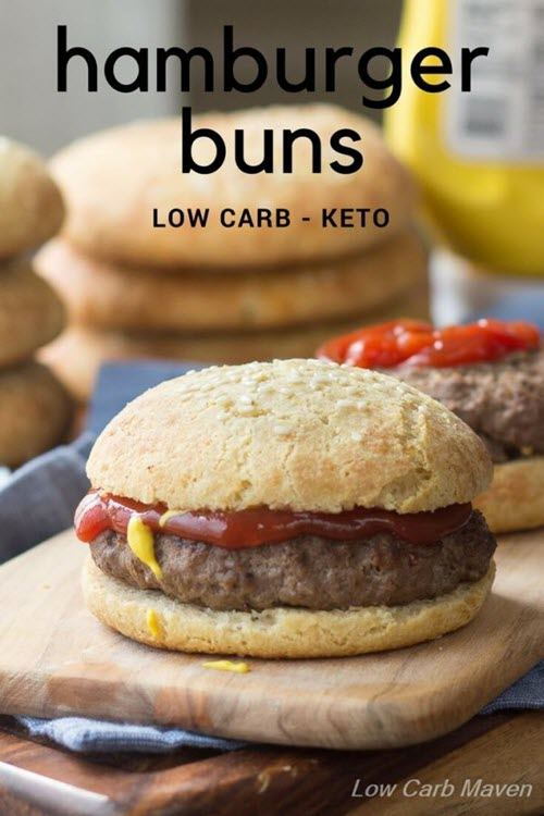 Hamburger buns on a board
