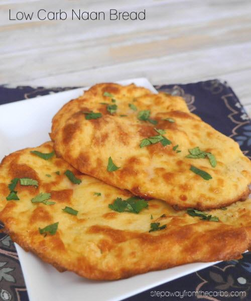 Naan bread on a white plate