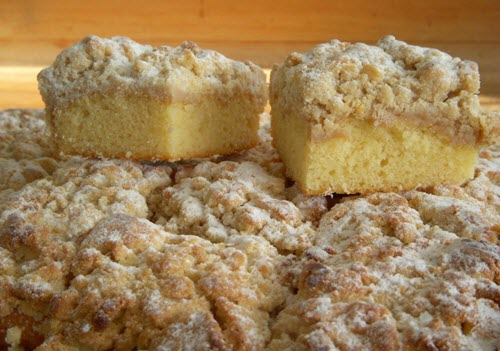 A selection of crumb cakes