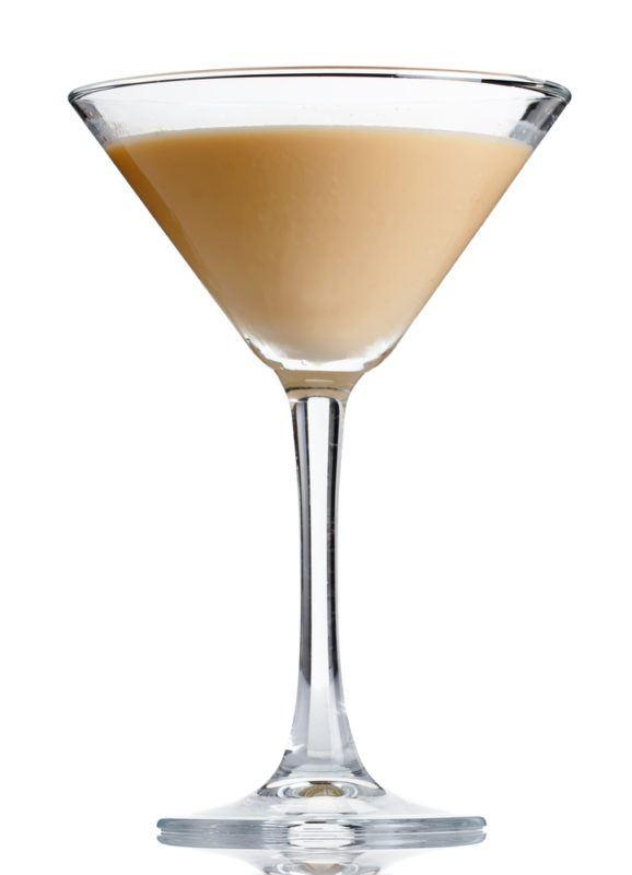 A milk and honey martini