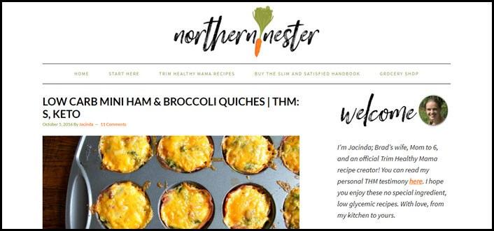 Website screenshot from Northern Nester