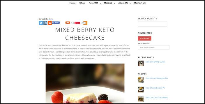 Website screenshot from Certainly Keto