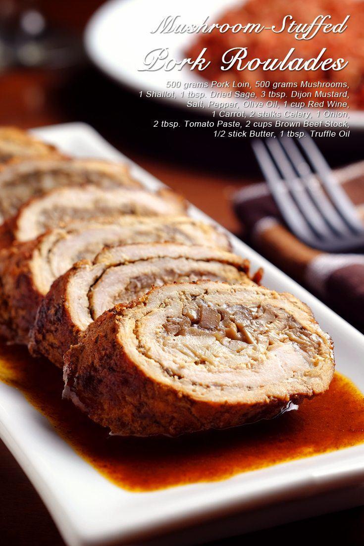 Slow Cooker Mushroom-Stuffed Pork Roulade Full Recipe on FoodForNet.com