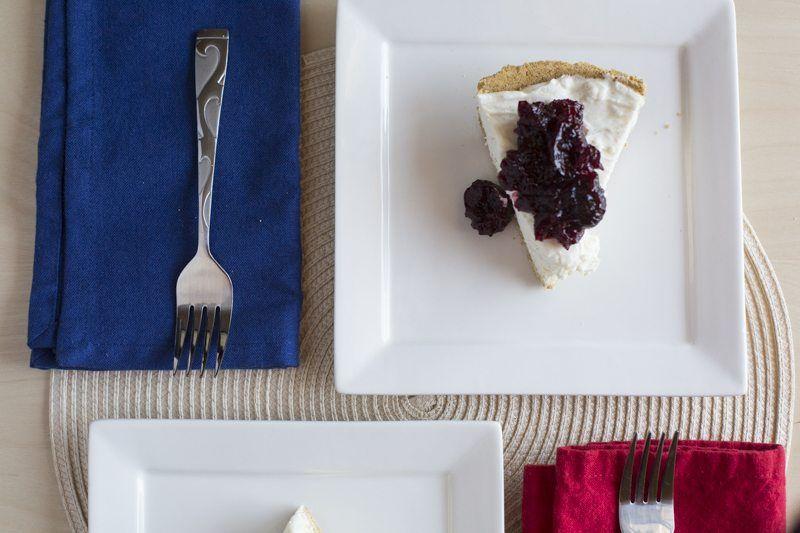 No-Bake Cheesecake Cherry Compote