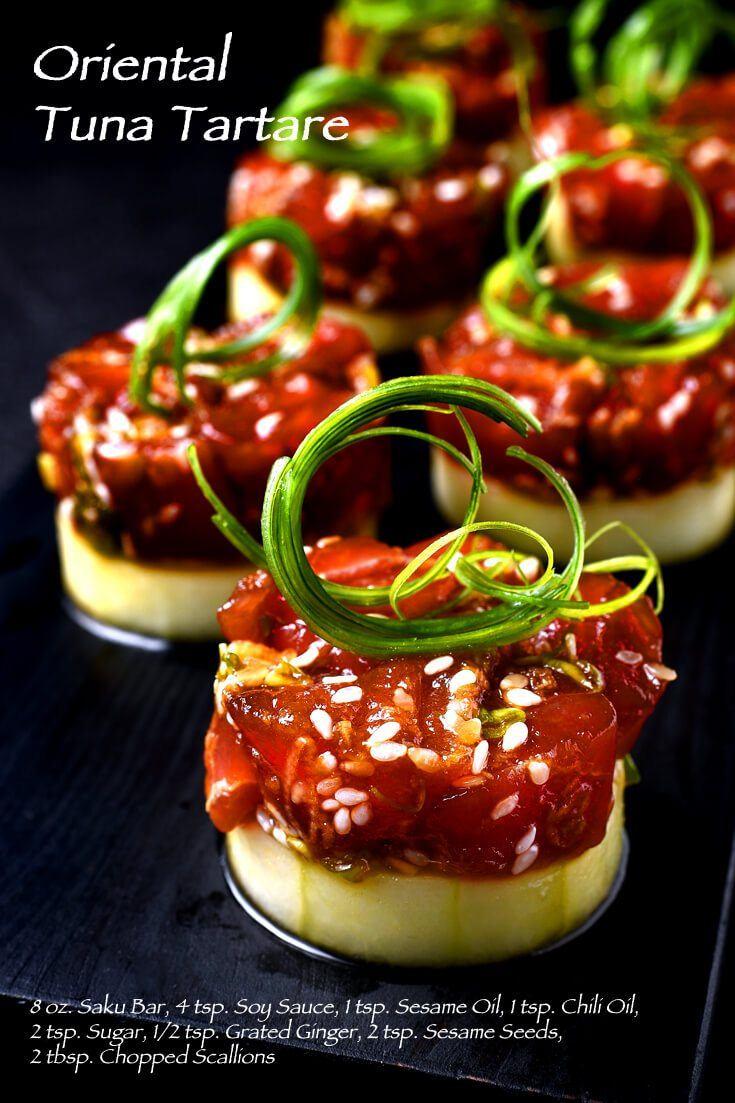 Oriental Tuna Tartare Full Recipe on FoodForNet.com