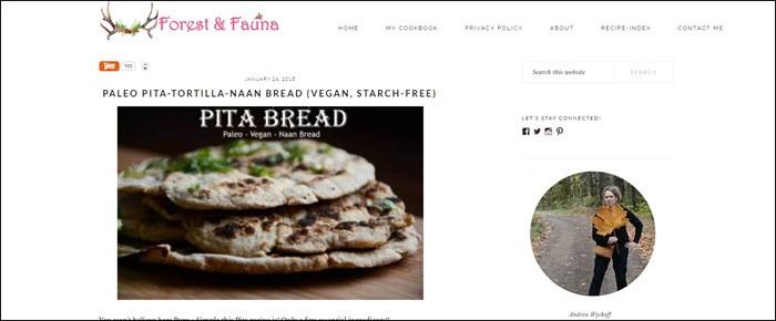 Website screenshot from Forest & Fauna