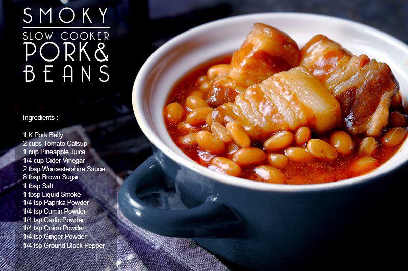 Smoky Slow Cooker Pork & Beans Final 5