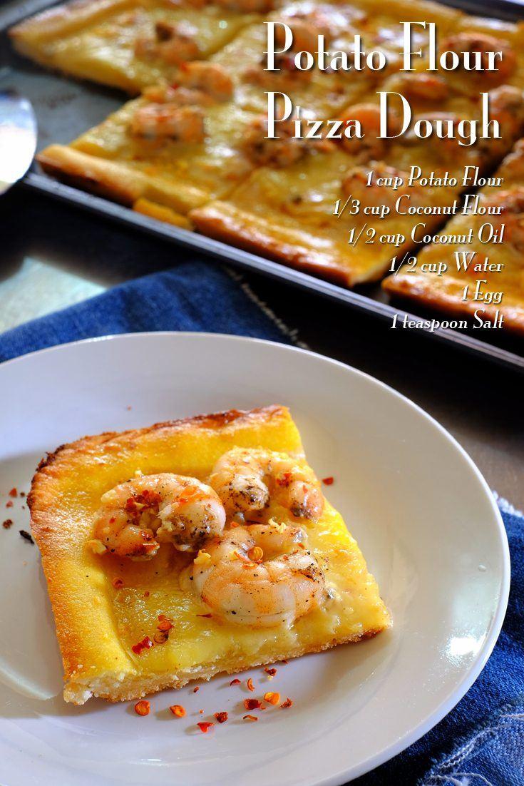 Potato Flour Pizza Dough Full Recipe on FoodForNet.com