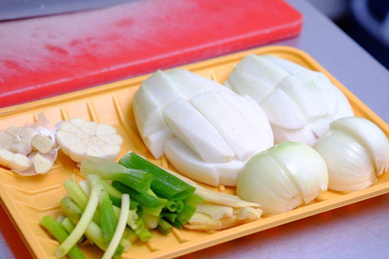 prepare and cut the veggies
