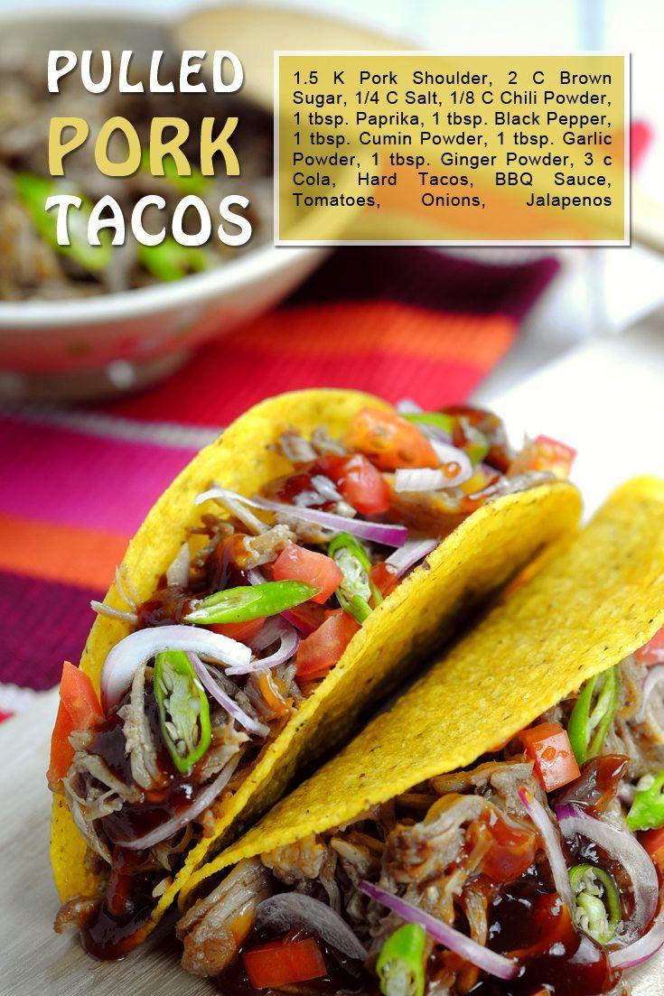 Slow Cooker Pulled Pork Tacos Recipe on FoodForNet.com