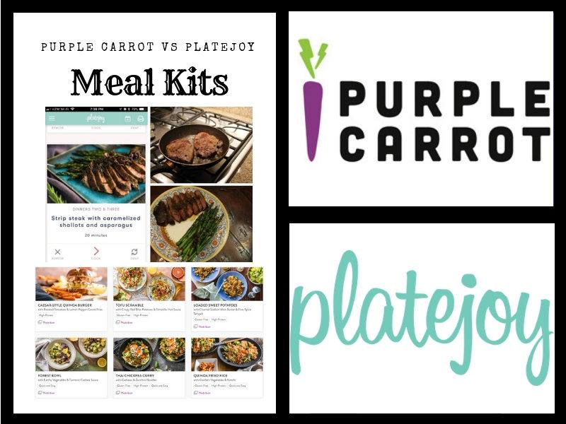 Purple Carrot vs  PlateJoy: Meal Kits VS Planning