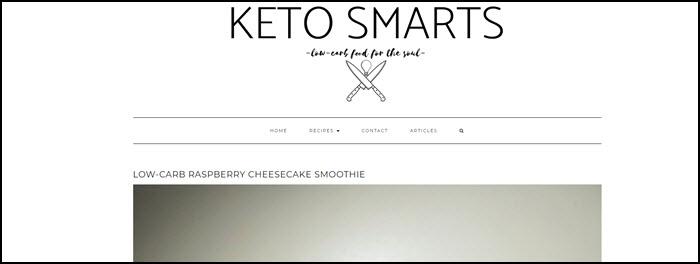 Website screenshot from Keto Smarts