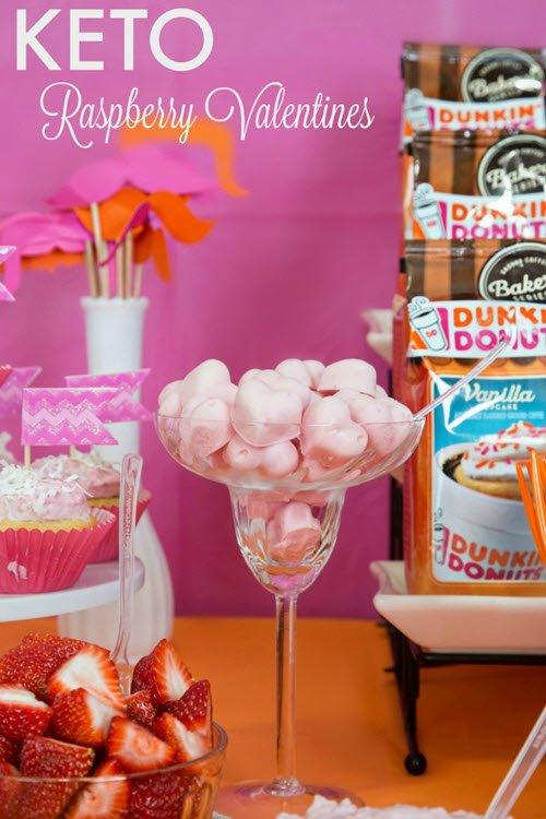 Pink love heart fat bombs