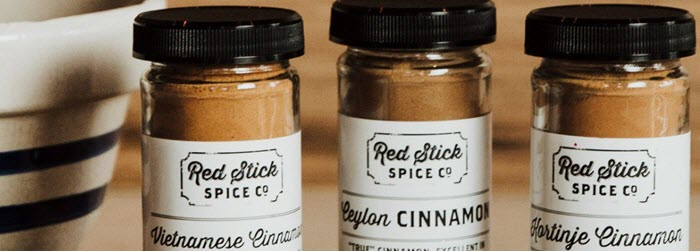A selection of 3 spice jars