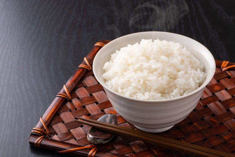 A white bowl of rice
