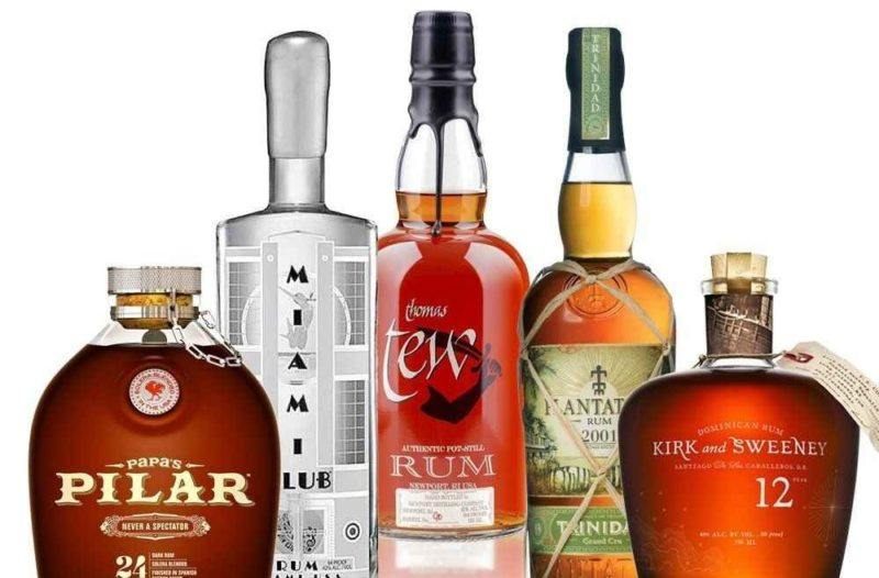 A selection of rum bottles from the Rum Lovers club that Spirited Gifts offers