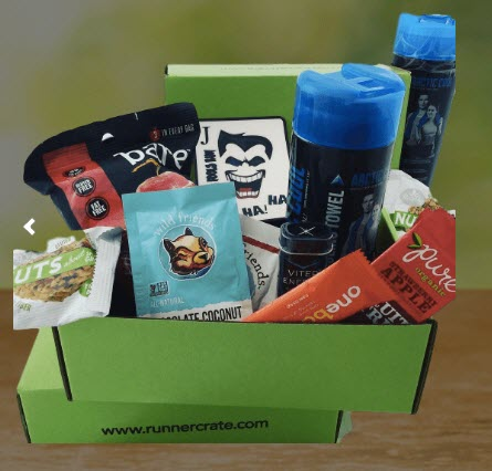 A green box with snacks and a Joker card