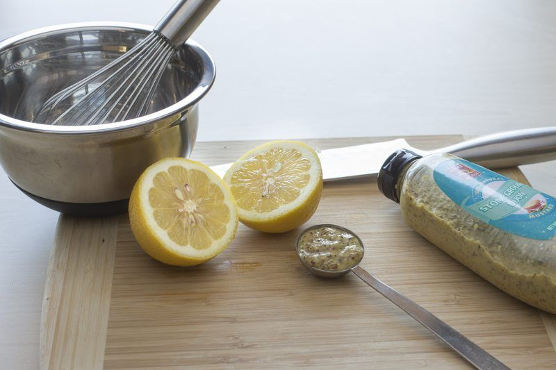 Saalmon-Dijon-Mustard-Preperation-Lemons