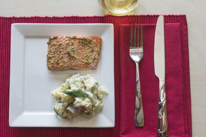 Salmon-Table-Setting-Potato-Salad