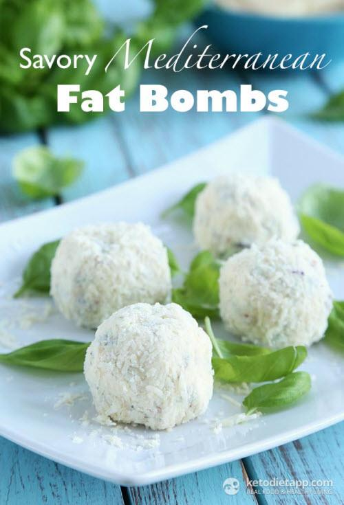 Four light colored fat bombs on a white plate