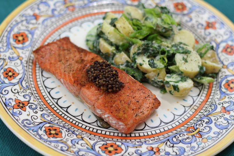Seared Salmon Green Potato Salad final 1