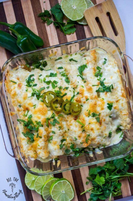 Shrimp enchiladas with sauce