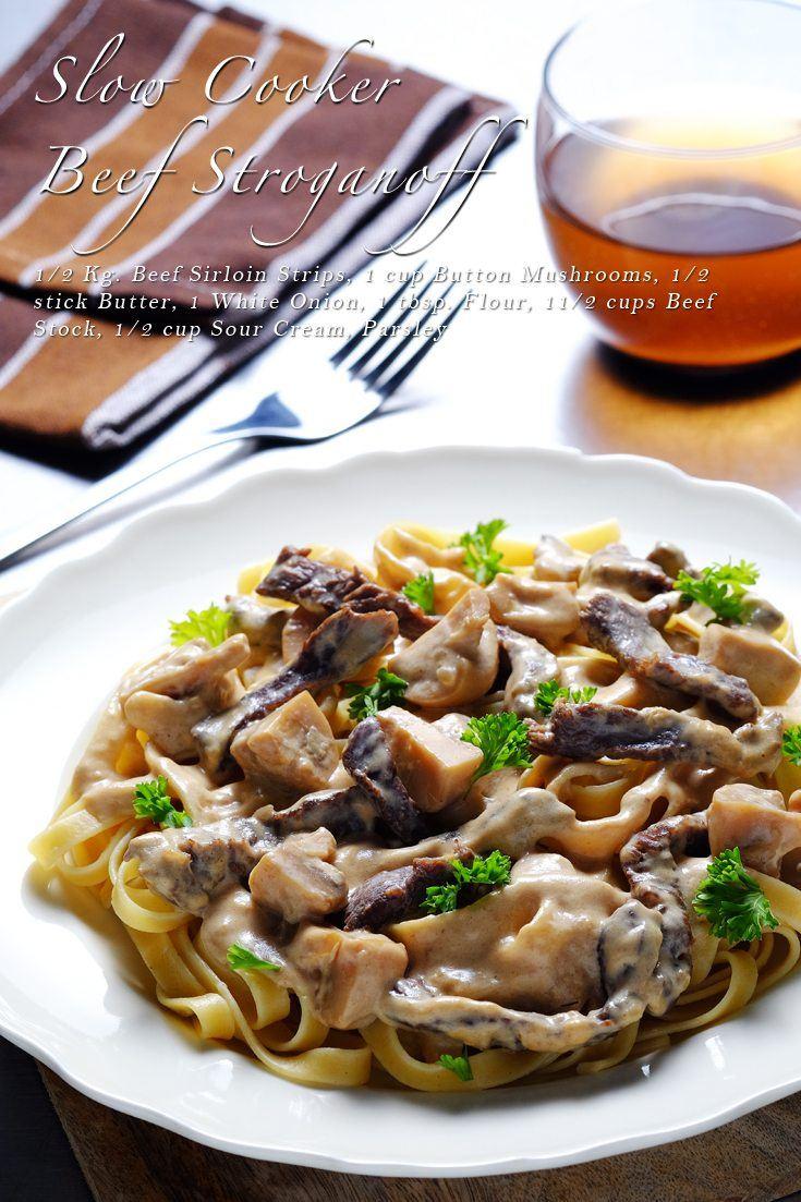 Slow Cooker Beef Stroganoff Recipe on FoodForNet.com