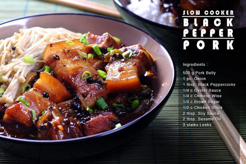 Slow Cooker Black Pepper Pork FULL RECIPE