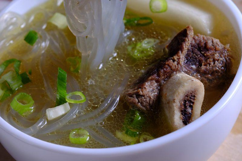 Korean Beef Rib Soup with noodles