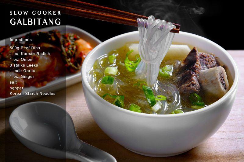 Slow Cooker Galbitang (Korean Beef Rib Soup) full recipe