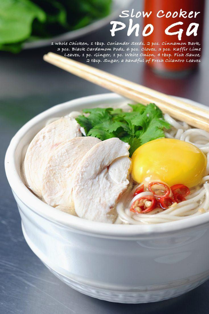 Slow Cooker Pho Ga full Recipe on FoodForNet.com