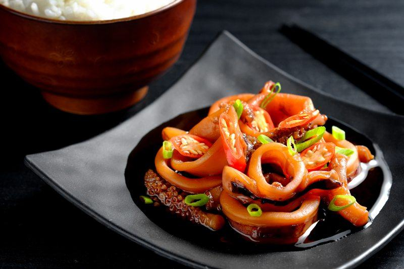 slow cooker soy ginger braised squid