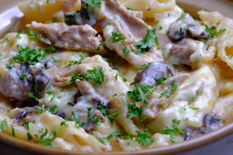 Slow Cooker Tuna and Portobello Casserole Detail