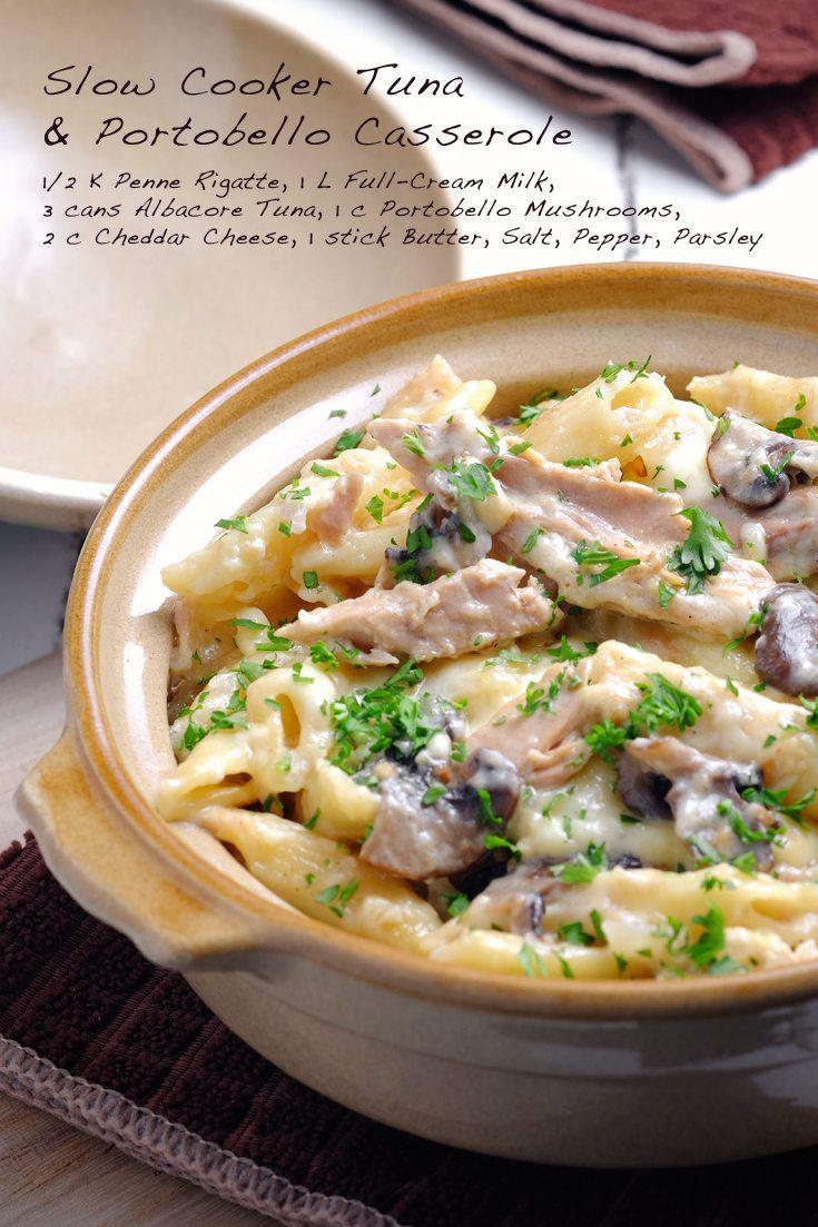 Slow Cooker Tuna and Portobello Casserole Full Recipe on FoodForNet.com