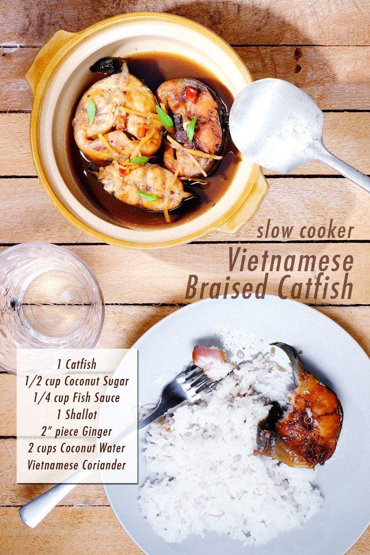 Slow Cooker Vietnamese Braised Catfish full recipe at FoodForNet.com