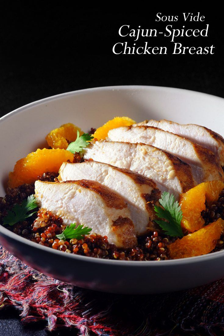 Sous Vide Cajun-Spiced Chicken Breast Full Recipe on FoodForNet.com