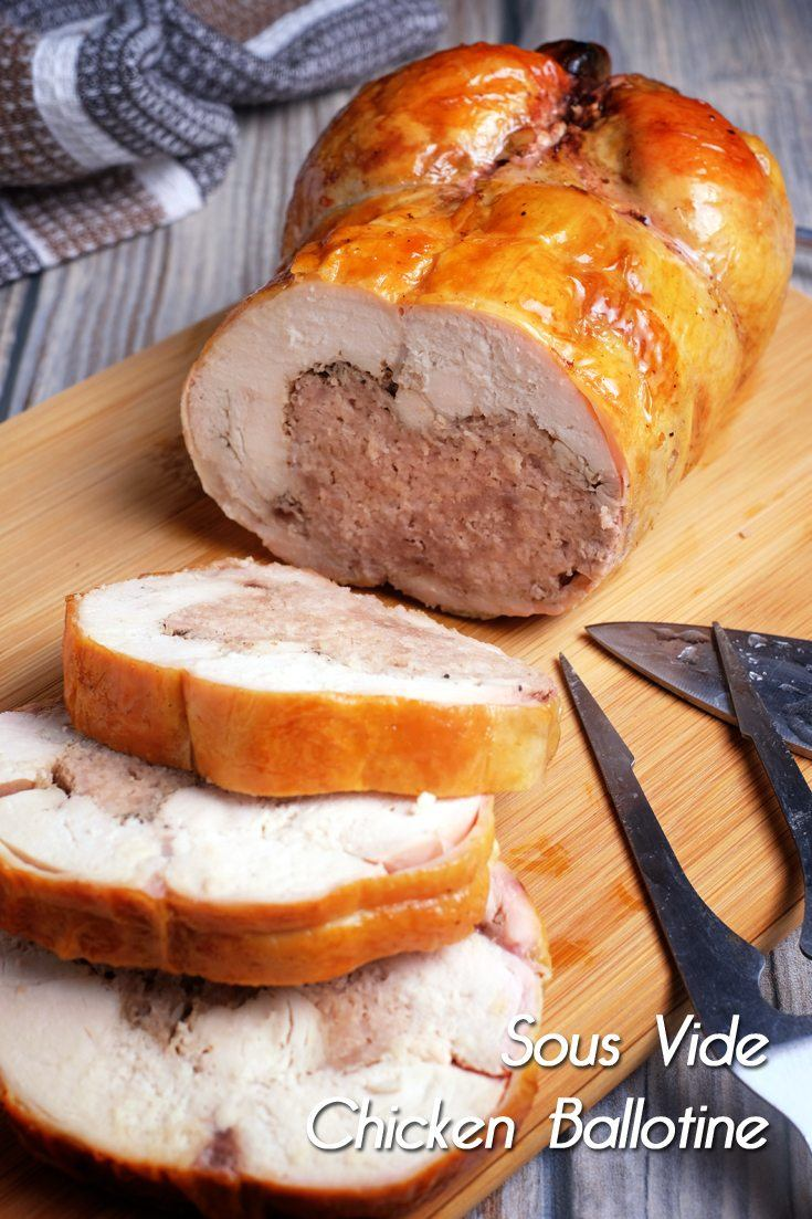 Sous Vide Chicken Ballotine Full Recipe on FoodForNet.com
