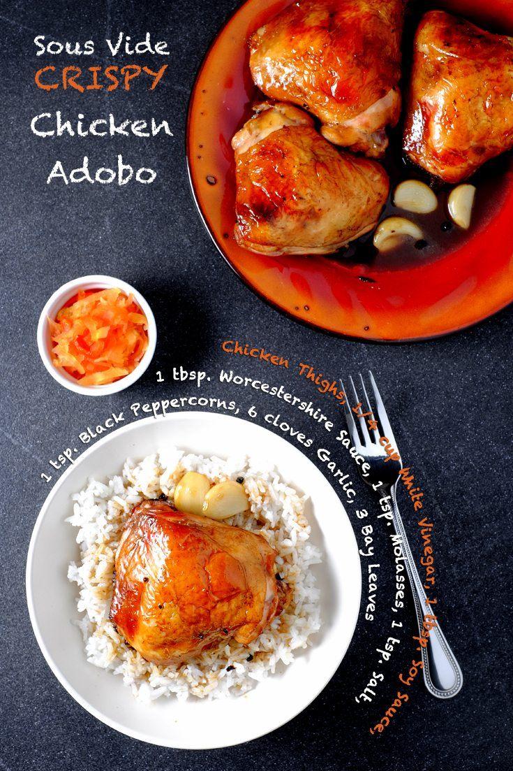 Sous Vide Crispy Chicken Adobo Full Recipe on FoodForNet.com