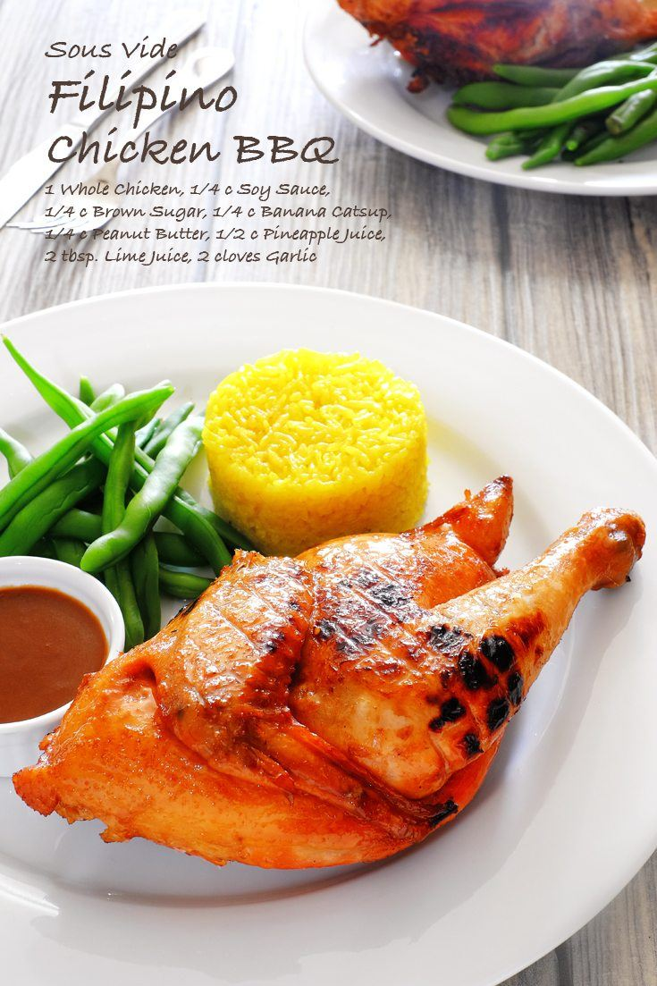 Sous Vide Filipino Chicken BBQ Full Recipe on FoodForNet.com