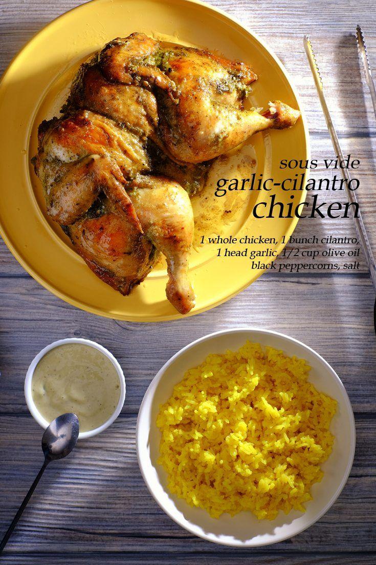 Sous Vide Garlic Cilantro Chicken Full Recipe on FoodForNet.com