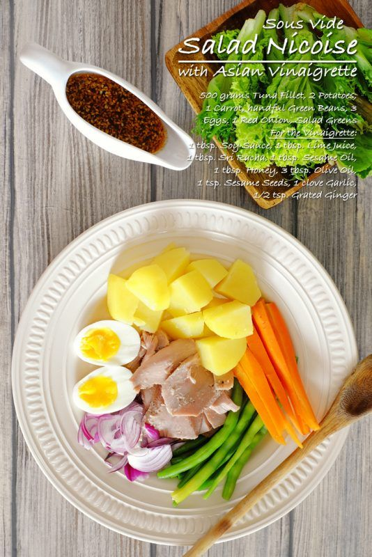 Sous Vide Salad Nicoise with Asian Vinaigrette